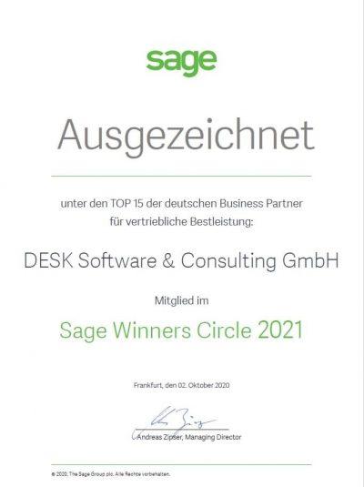 Sage Winner Circle 2021